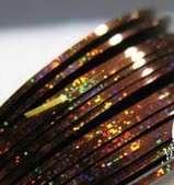 Лента для дизайна ногтей - золотисто-голографическая