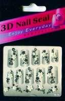 "Наклейки ""Белые с серебром"" 3 D Nail Seal № 26"