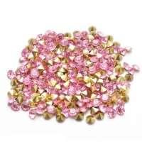 Swarovski стразы стеклянные № 3 (конусные, розовый ) 40шт/уп
