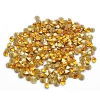 Swarovski стразы стеклянные № 7 (конусные, золотой ) 40шт/уп