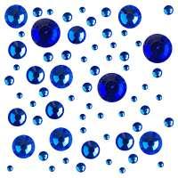 Стразы цветные микс размеров в баночке №2 (Sapphire)