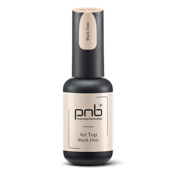 PNB Art Top Black Dots Арт Топ матовый Черная крошка, 8 мл.