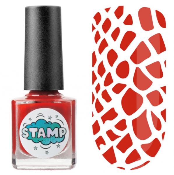 IRISK Лак-краска для стемпинга Stamp Classic, № 04, Красный барон, 8 мл.