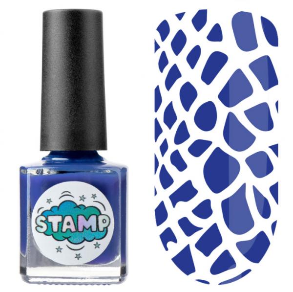 IRISK Лак-краска для стемпинга Stamp Classic, № 05, Океанские глубины, 8 мл.