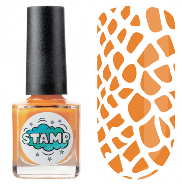 IRISK Лак-краска для стемпинга Stamp Classic, № 07, Пиренейский апельсин, 8 мл.