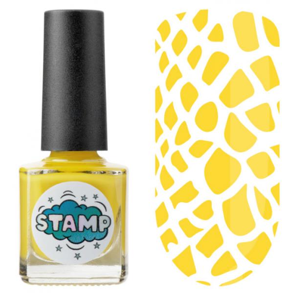 IRISK Лак-краска для стемпинга Stamp Classic, № 08, Желтая субмарина, 8 мл.