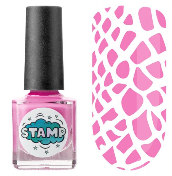 IRISK Лак-краска для стемпинга Stamp Classic, № 09, Розовый фламинго, 8 мл.