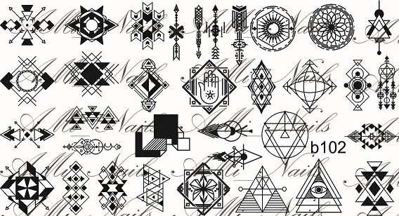 """Ami_nails Cлайдер-дизайн """"Геометрия"""" b102"""
