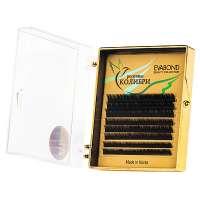 Evabond-Колибри, Ресницы для наращивания Mix (8 полос), 0.10 С-изгиб.