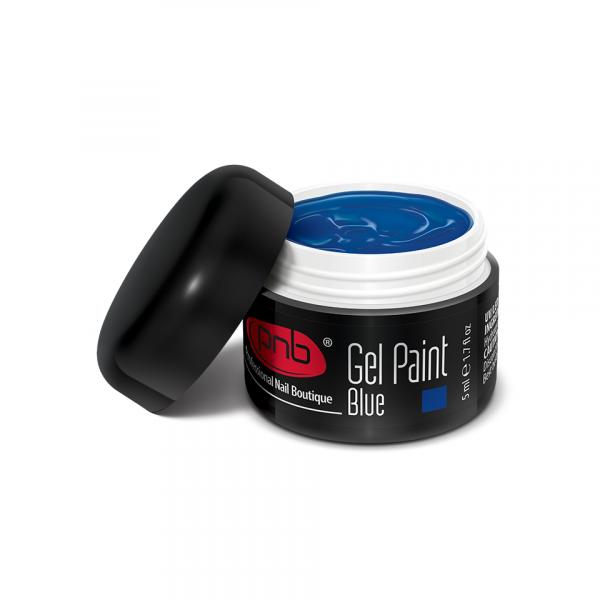 PNB гель краска № 10 синий, 5 мл. Gel Paint Blue