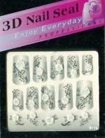 "Наклейки ""Белые с серебром"" 3 D Nail Seal № 28"