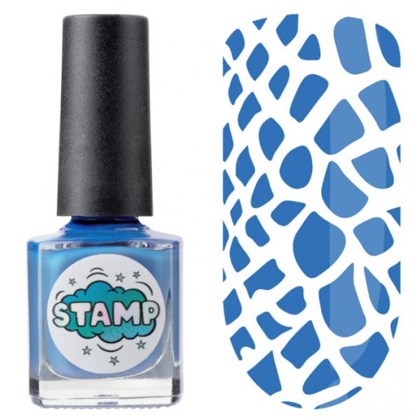 IRISK Лак-краска для стемпинга Stamp Classic, № 11, Небесная лазурь, 8 мл.