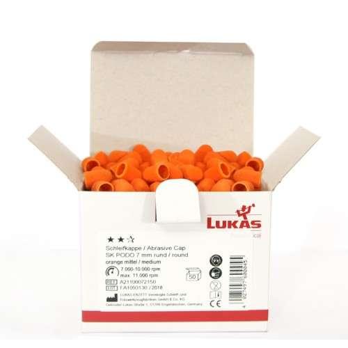 LUKAS Podo - Колпачок абразивный, D 13/80, крупная крошка 100 шт.