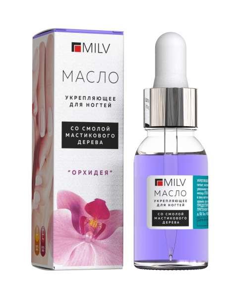 """Milv Укрепляющее масло для ногтей со смолой мастикового дерева """"Орхидея"""", 15 мл."""