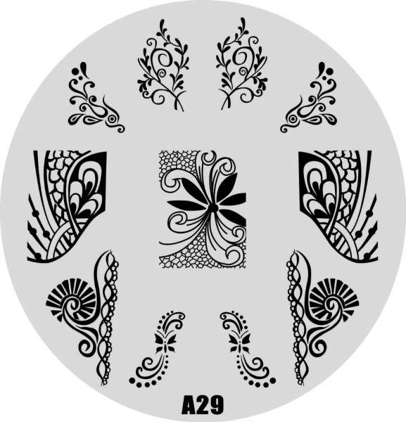 Stamping Пластина  № A 29