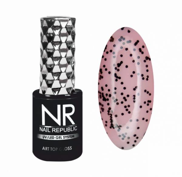 Nail Republic Art Top Gloss Топ без липкого слоя, глянцевый №12, 10 мл.