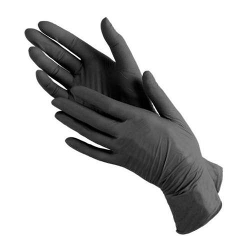 NORMA Перчатки нитриловые, черные, размер M, 100 шт/ 50 пар