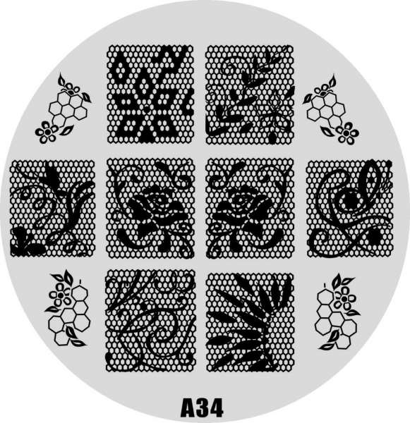 Stamping Пластина  № A 34