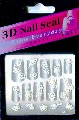 "Наклейки ""Белые"" 3 D Nail Seal  № 11"