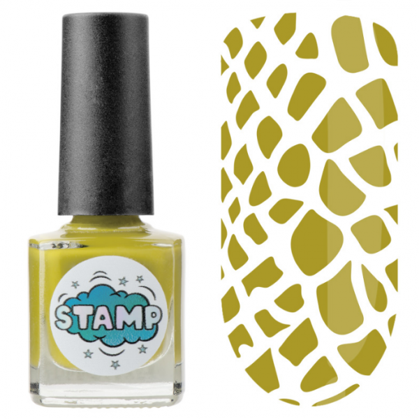 IRISK Лак-краска для стемпинга Stamp Classic, № 14, Летняя олива, 8 мл.
