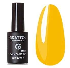 Grattol, Гель-лак № 180 Yellow Autumn, 9 мл
