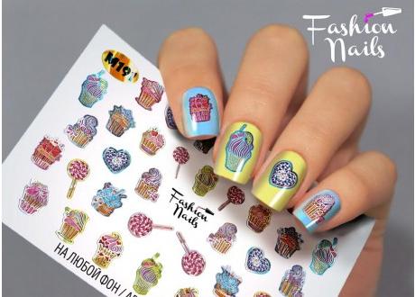 Fashion Nails, слайдер-дизайн, M 191