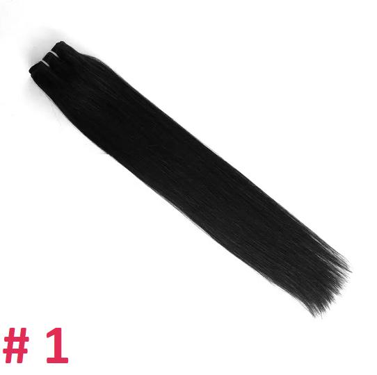Волосы на трессе,  тон 1, 65 см, 67 гр.