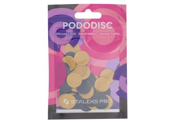 Staleks Pro PDF-15-320 Сменные файлы для Педикюрного диска PODODISC, р-р S, 320 гритт, D=15 мм, 50 шт.