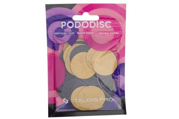 Staleks Pro PDF-25-100 Сменные файлы для Педикюрного диска PODODISC, р-р L, 100 гритт, D=25 мм, 50 шт.