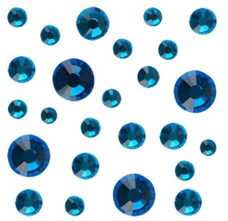 Стразы Crystal Mix размеров Capriblue № 13