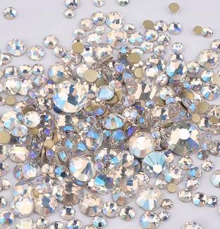 Стразы  MIX размеров серебро, 1440шт.