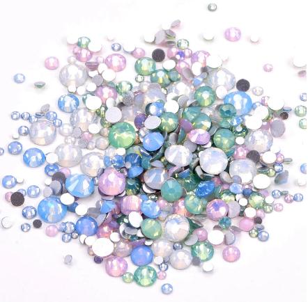 Swarovski стразы Mix размеров, Pastel Opal, 100 шт.