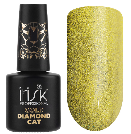 Irisk  Гель-лак Кошачий глаз GOLD DIAMOND CAT, 10МЛ