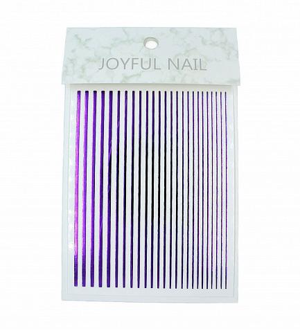Гибкая лента для дизайна ногтей Фиолетовый металлик