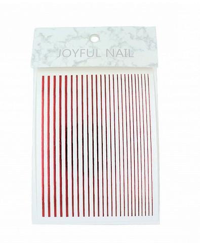 Гибкая лента для дизайна ногтей Красный металлик