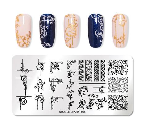 Stamping Пластина YINGHUI-010