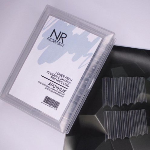 Nail Republic Нижние, Арочные формы для моделирования, 50 шт.