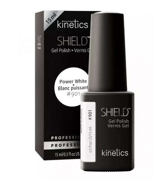 Kinetics Гель-лак, гель-краска, SHIELD Power White № 901, экстрабелая, 15 мл.
