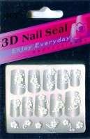 "Наклейки ""Белые"" 3 D Nail Seal  № 28"