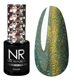 Nail Republic  Гель-лак CAT-27, 3D Lemon gold, 10 мл.