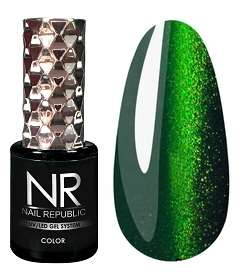 Nail Republic  Гель-лак CAT-28, 3D Green grass, 10 мл.