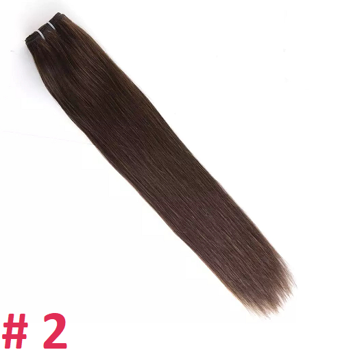 Волосы на трессе,  тон 2, 60 см, 100 гр.