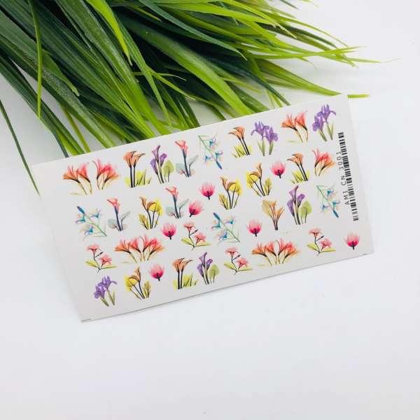 "Ami_nails Слайдер-дизайн ""Цветы"" № 3001"