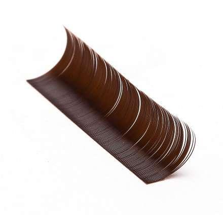 Lotus, Ресницы на ленте MIX (6 полос) темно-коричневые (0.10) СС-изгиб
