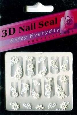 "Наклейки ""Белые"" 3 D Nail Seal № 3"