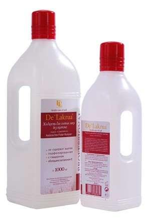 De'Lakrua - Жидкость для снятия лака без ацетона