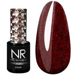 Nail Republic  Гель-лак Мерцающий красно-коричневый № 452, 10 мл