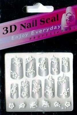 "Наклейки ""Белые"" 3 D Nail Seal  № 17"
