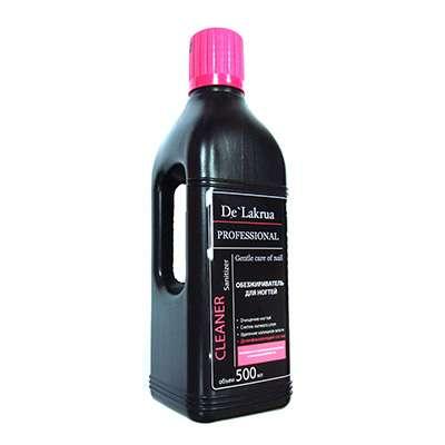 De'Lakrua Professional - Средство для обезжиривания ногтей и снятия липкого слоя,  Cleaner, 0.5 л.