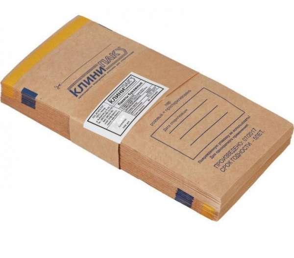 Клинипак, Крафт-пакеты для стерилизации, 10*25 см, (100 шт.)